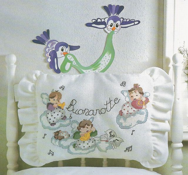 Lenzuolini punto croce schemi gratis idee per neonati a for Ricami punto croce neonati
