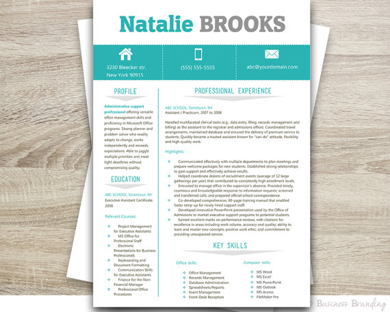 Resume And Cover Letter Template Resume Template Professional