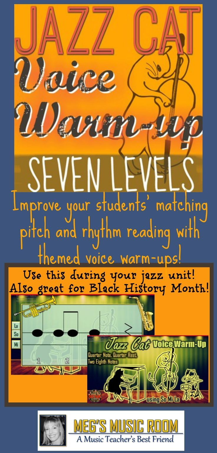 Jazz Cat Voice Warm-Up - 7 LEVELS TO IMPROVE PITCH MATCHING! Black ...