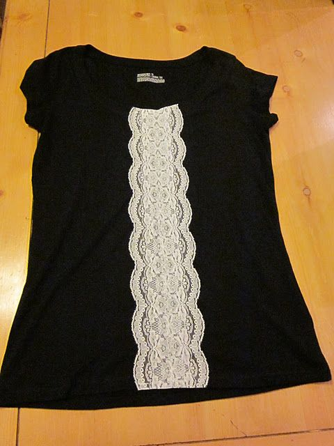 Lace front tee, super easy to make, looks cute on.