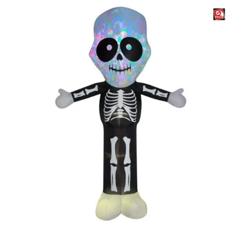 12 Kaleidoscope Skeleton W Big Head By Gemmy Inflatable In 2020 Halloween Inflatables Halloween Skeletons Inflatable