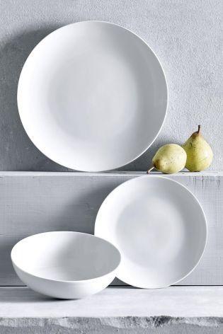 The Minimal Home Needs All White Dinnerware Dinner Sets Buy Kitchen Crockery