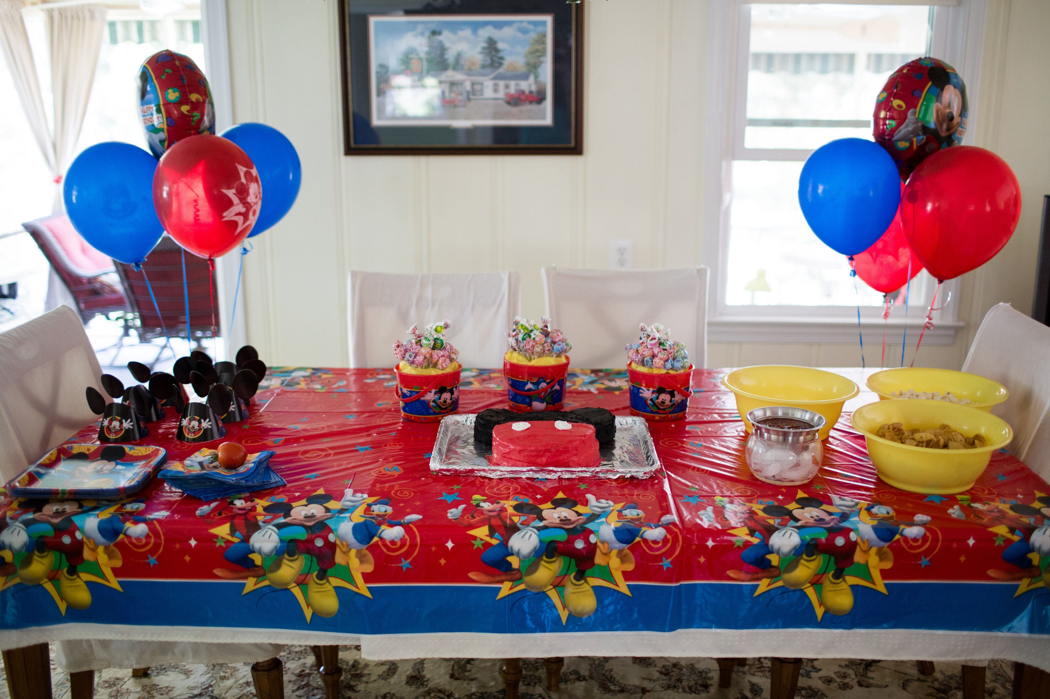 Birthday table decorations boy - Mickey Mouse 2nd Birthday Party Ideas Good Galleries