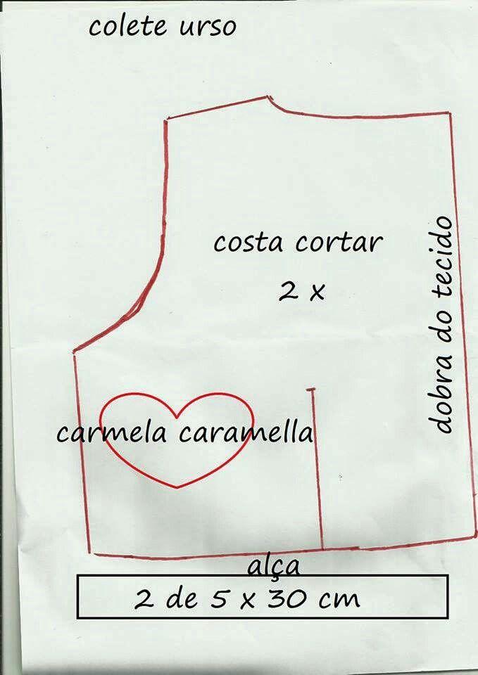 Colete urso | наряды для кукол | Pinterest | Moldes