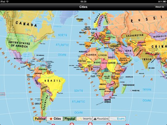 carte du monde gratuite