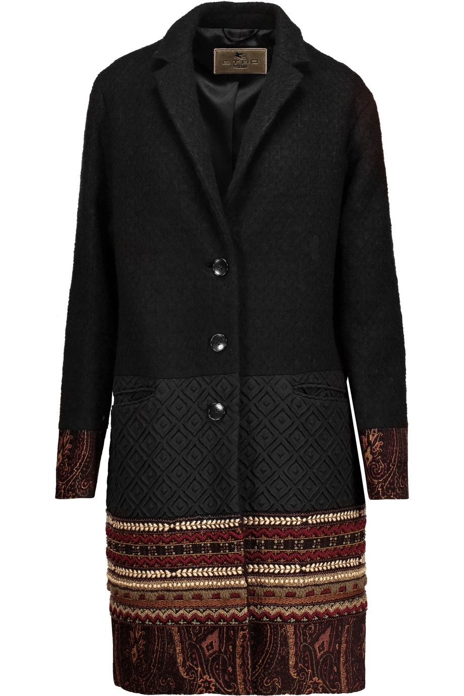 Shop on-sale Etro Embellished wool-blend jacquard and matelassé ...