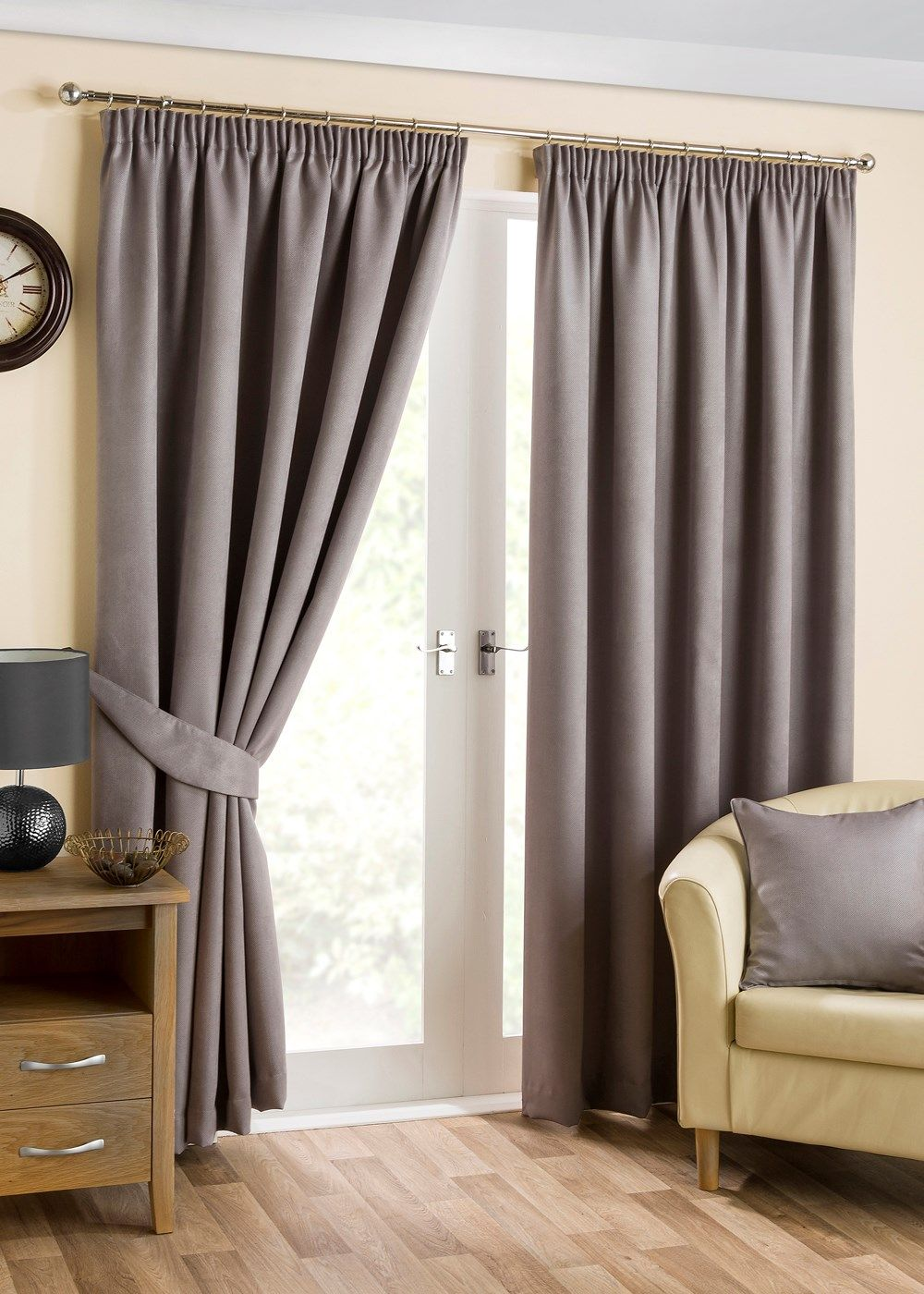 Ready Made Curtains 108 Drop Plush Blackout Curtains Matalan Living Pleated Curtains