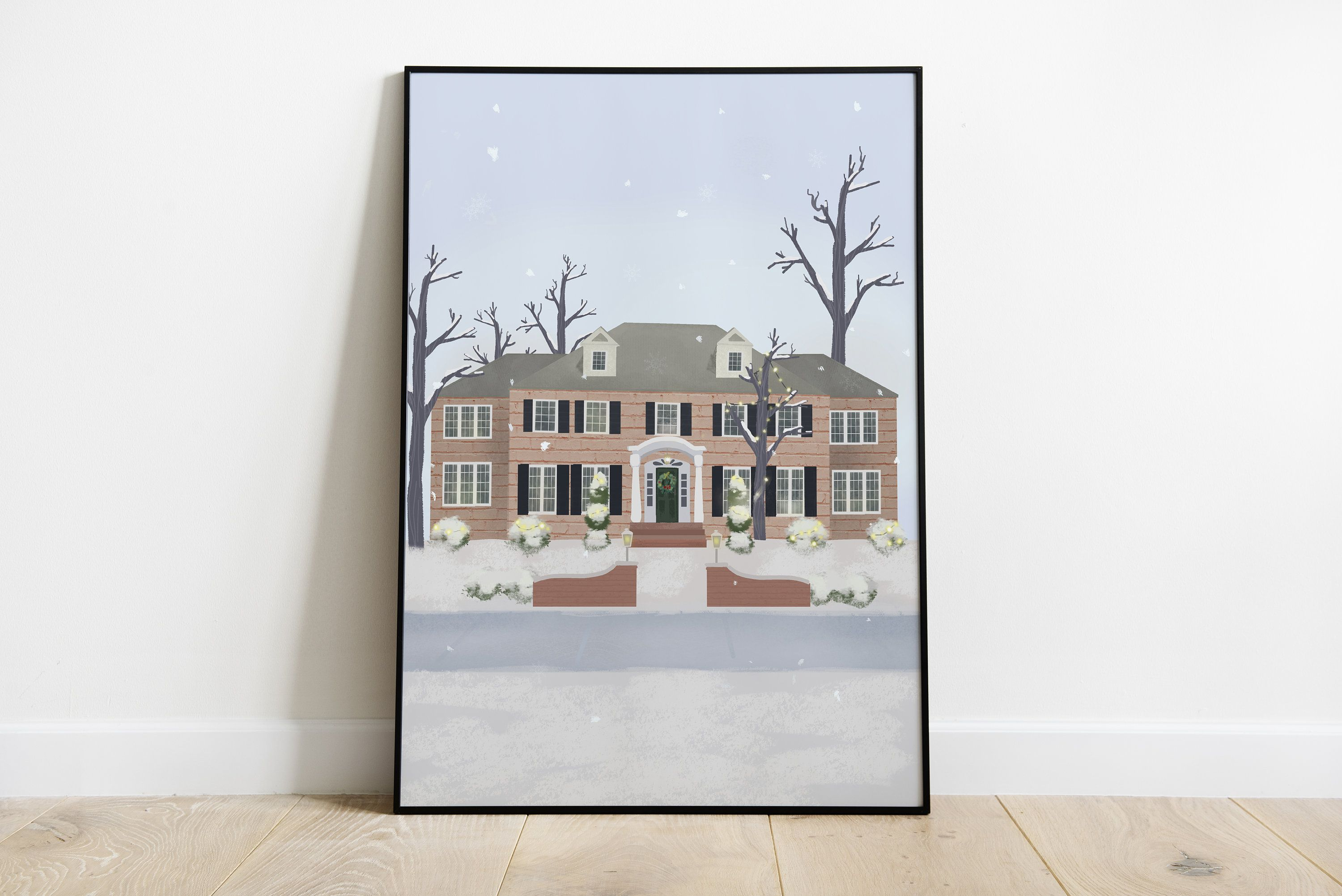 Home Alone House Movie Art Print Gift For Holidays Home Etsy Movie Art Print Art Print Gifts Movie Art