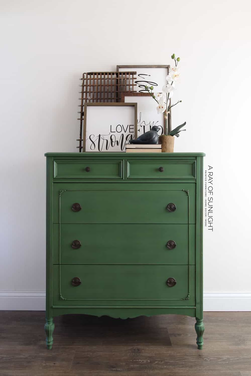 Emerald Green Painted Dresser How To Paint With Milk Paint Green Painted Furniture Green Bedroom Furniture Painted Dresser [ 1500 x 1000 Pixel ]