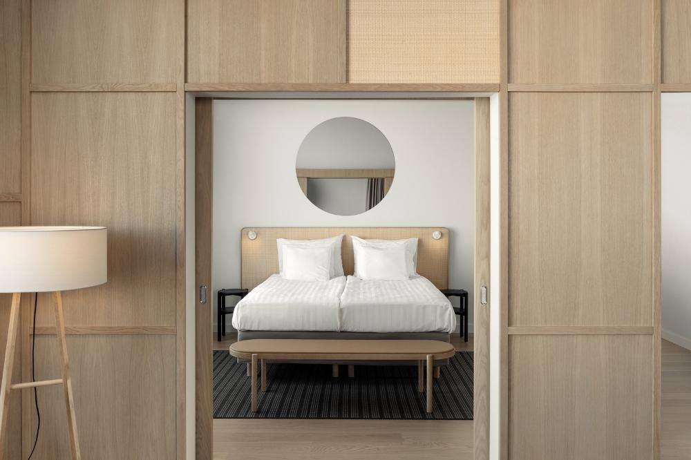 Fyra Creates Stylish Serene Ambiance In Spacious Tripla Hotel In Helsinki Archlovin In 2020 Scandinavian Hotel Hotel Room Design Hotels Design