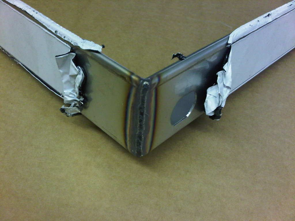 Stainless Steel Display Frame With Tig Welded Corners Tig