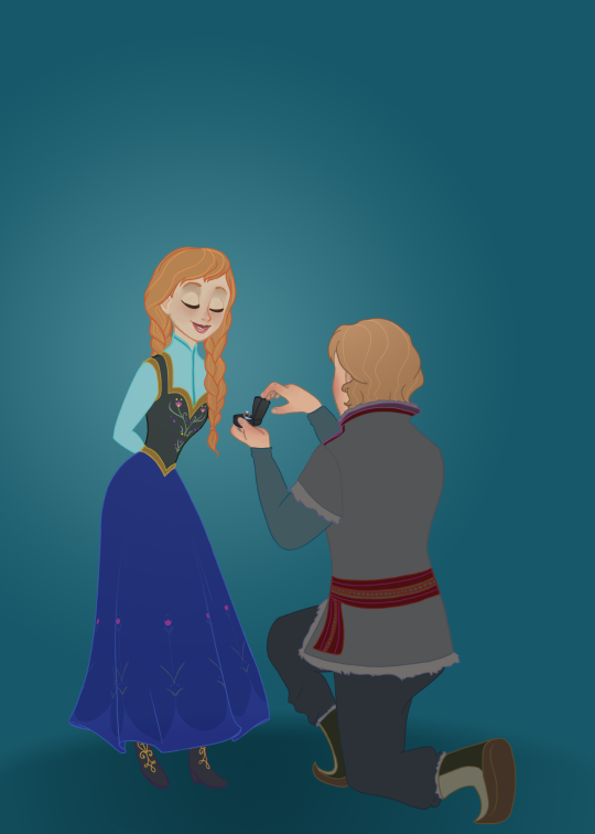 Kristanna : Will you marry me!? -Kristoff  Yes!!! -Anna