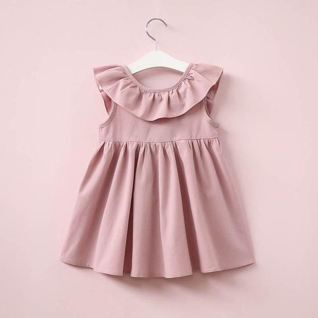 536db44d8fad Kids Girls Backless Dress Toddler Princess Party Summer Children Floral Bow  Dresses