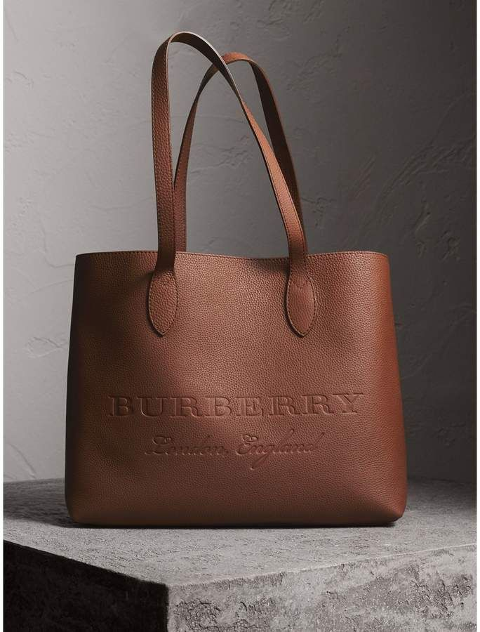 750 Burberry Large Embossed Leather Tote Very Bags Handbags Bolsa Style Womensfashion Mystyle Affiliatelink Totebag
