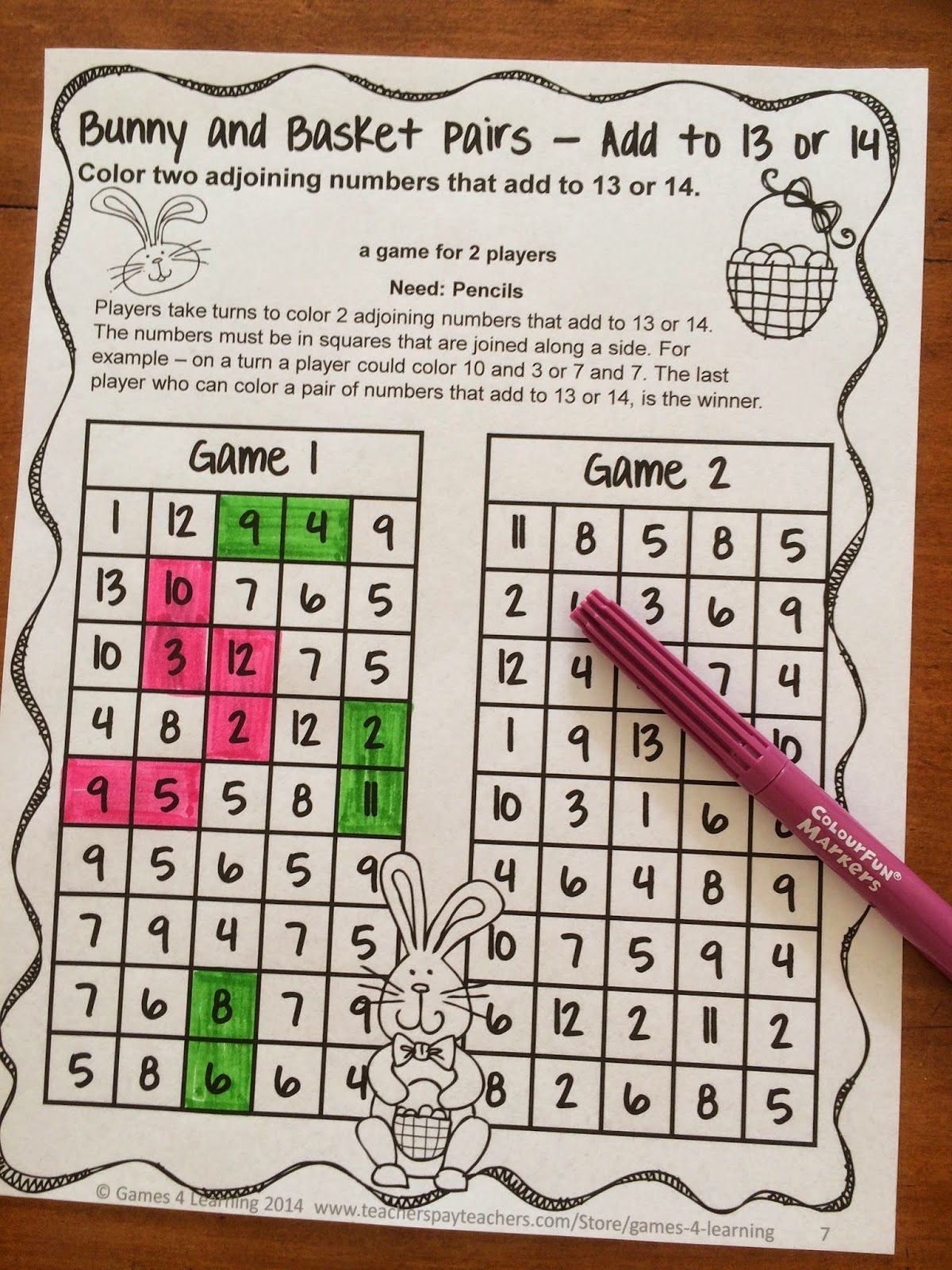 Easter Math Games No Prep