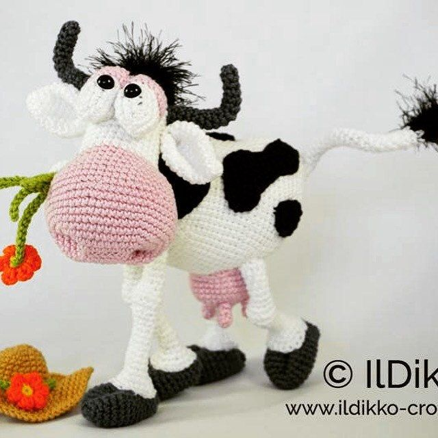 Amigurumi Crochet Pattern - Moo-na Lisa | Amigurumi, Kuscheltiere ...