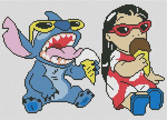 Disney cross stitch pattern lilo and stitch cross di AvroraCS
