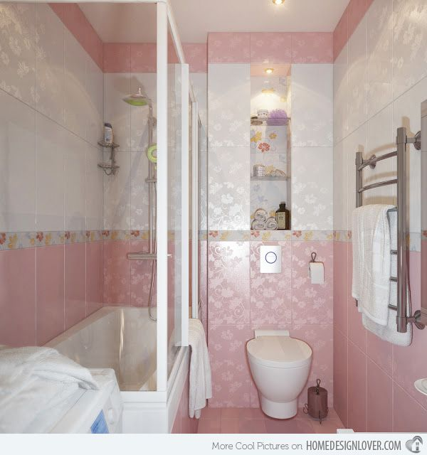 15 Chic And Pretty Pink Bathroom Designs