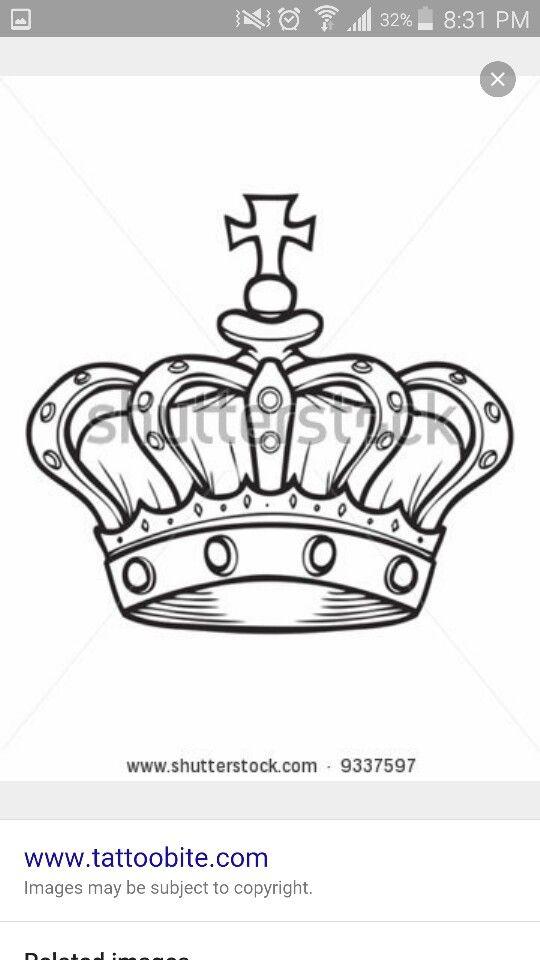Stencil King Crown: Simple Black Crown Tattoo Ideas