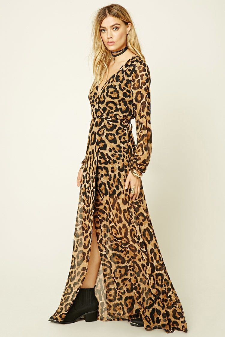 Reverse Leopard Print Dress Forever 21 2000193777 Leopard Print Dress Maxi Wrap Dress Maxi Dress [ 1125 x 750 Pixel ]