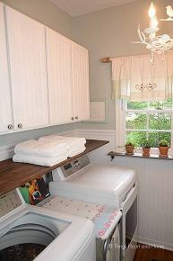laundry room makeover chandeliers update, laundry rooms, organizing, storage ideas