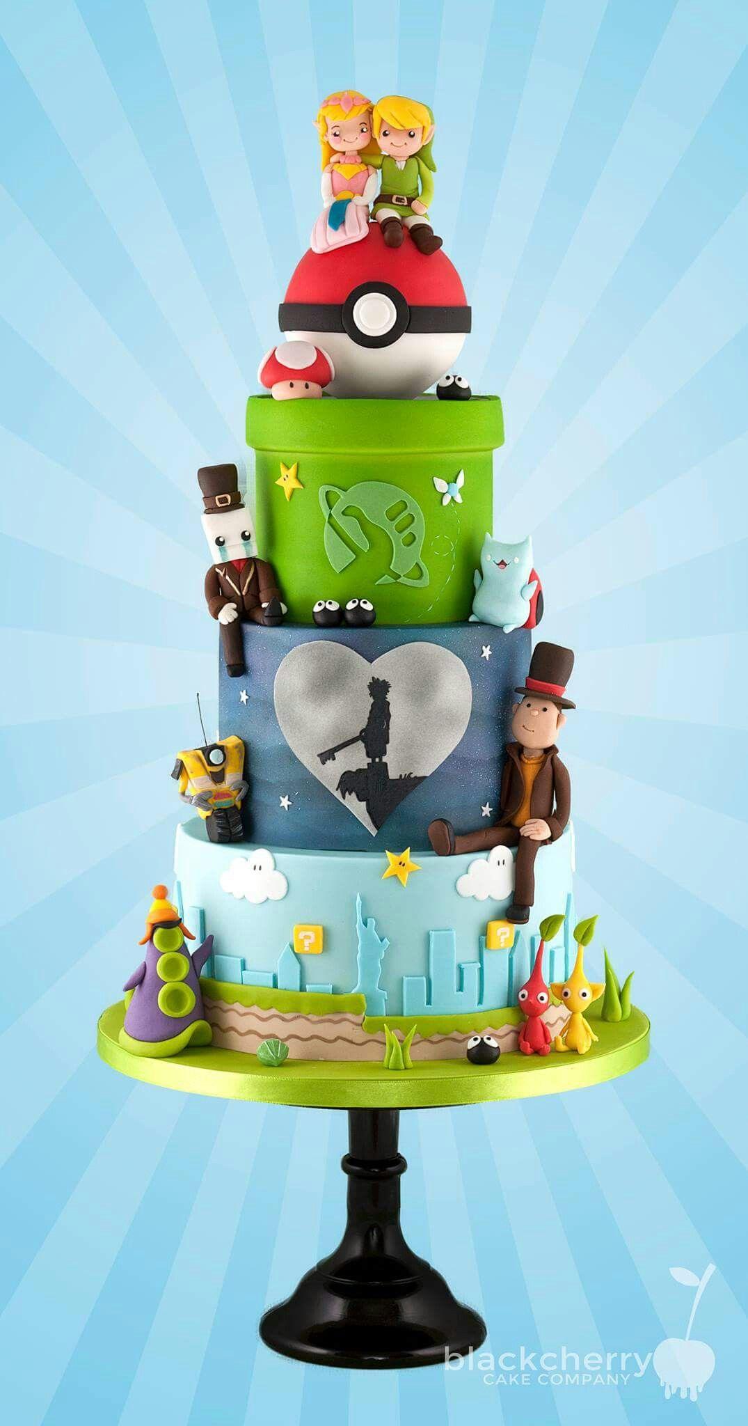 Gamer cake with images nerd wedding cake gamer