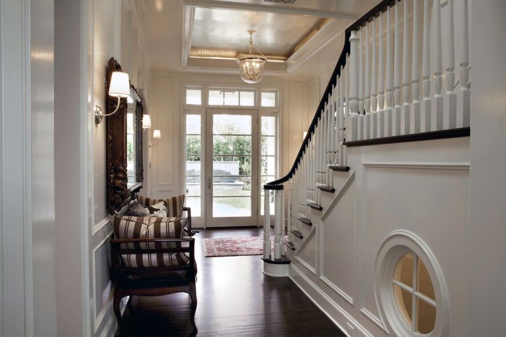 Mirror in Foyer & Mirror in Foyer | House Ideas | Pinterest | Foyers Glass front door ...