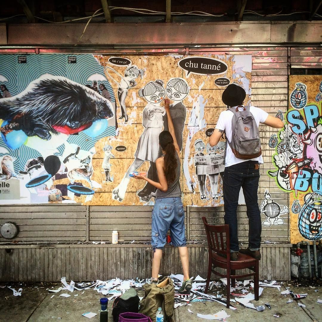 Ayudando a la señorita @caracarmina en su trabajo para @mtlenarts #urban #art #street #tag #mtl #lchdrslife