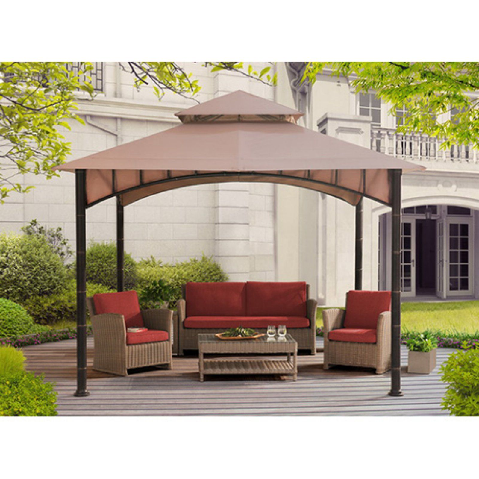 Sunjoy 10 X 10 Ft Replacement Canopy Cover For D Gz136pst N Summer Breeze Soft Top Gazebo Gazebo Pergola Swing Pergola Patio