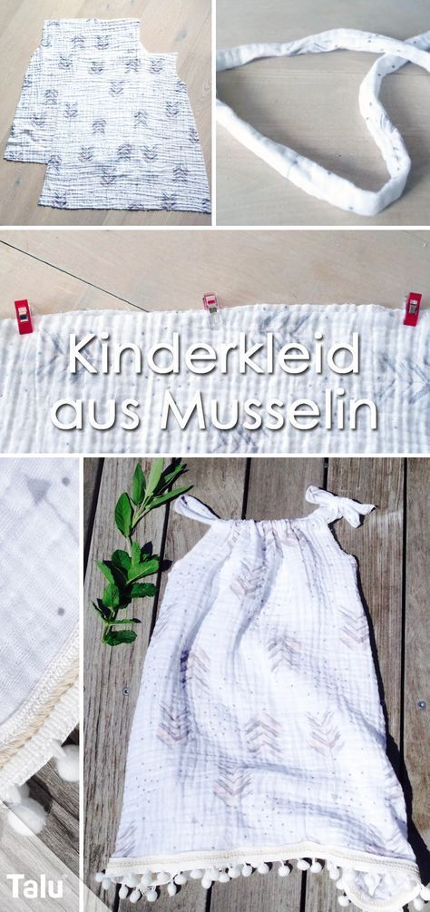 Photo of Sewing children's dress – instructions and pattern for a summer dress – Talu.de