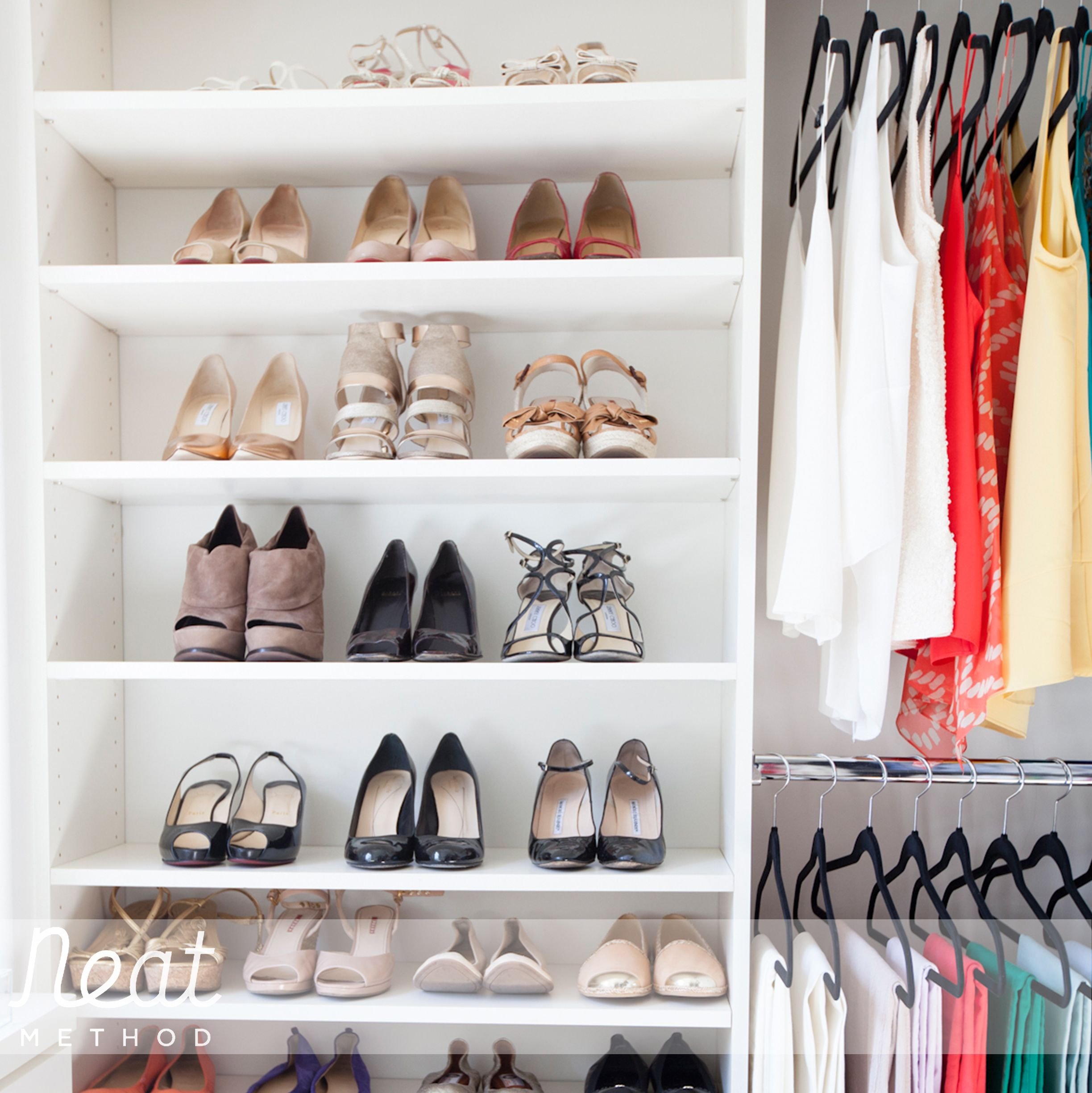 Closet Organizing   Spaces   San Diego   Neat Method San Diego   Bookcase  As Closet Storage.