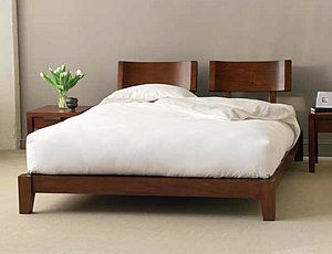 The Unique Zea Bed Features A Rich Solid Mahogany And Veneer