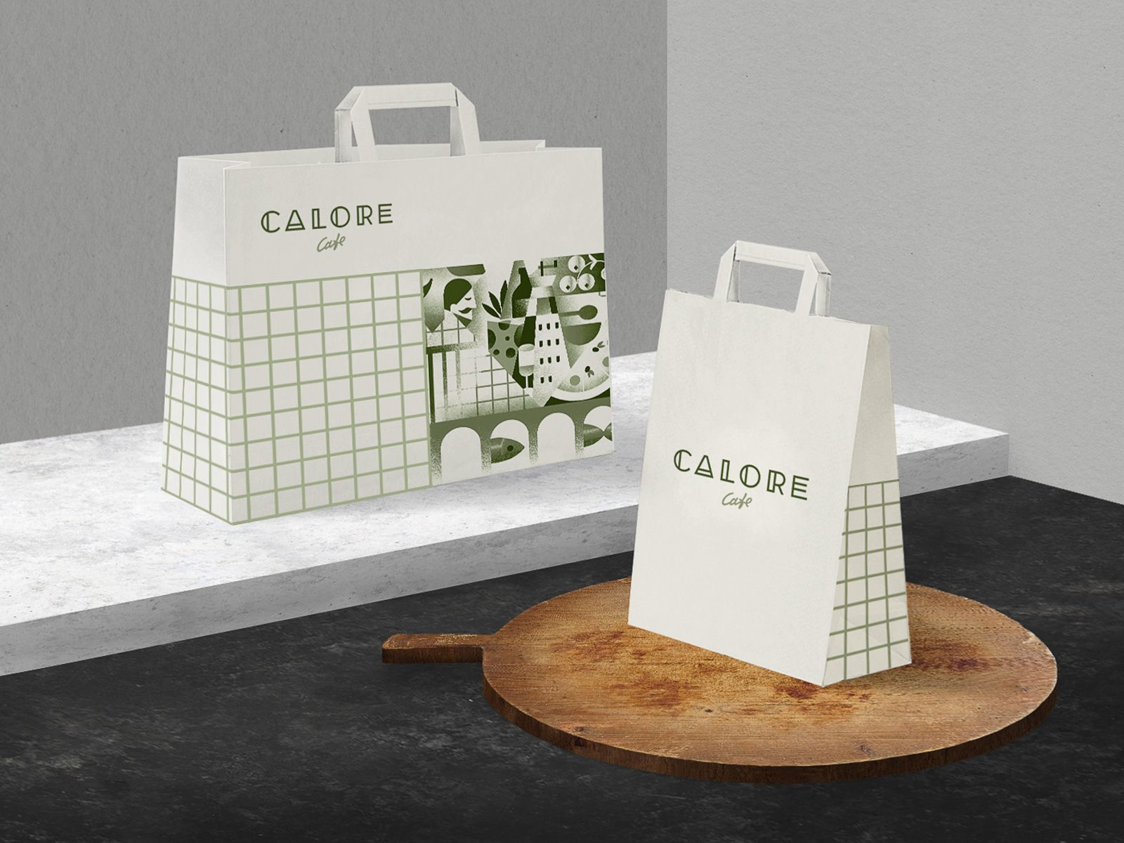 ASTHETÍQUE GROUP CALORE Cafe branding, Branding