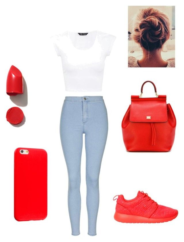 """Untitled #2"" by explorer-14584651787 on Polyvore featuring Topshop, NIKE, NARS Cosmetics and Dolce&Gabbana"