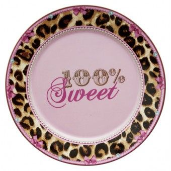 Little Diva Servies.Little Diva Gebaksbord 100 Sweet Luipaardprint