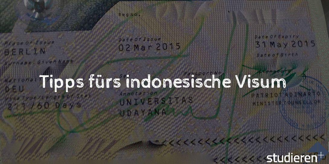 Hier erfährst du, wie du dein Studentenvisum / Visum für Indonesien beantragen und verlängern kannst. Ich gebe dir hilfreiche Tipps für die Unterlagen.
