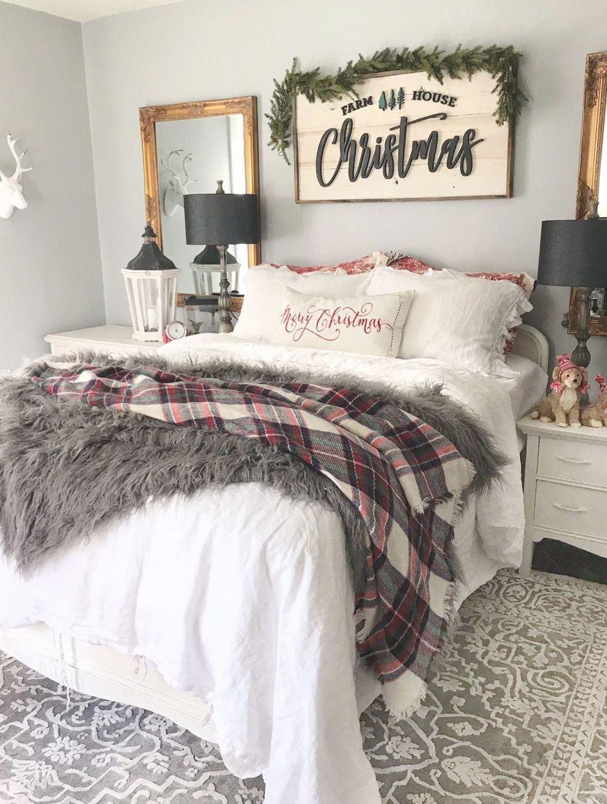 christmas bedroom inspo