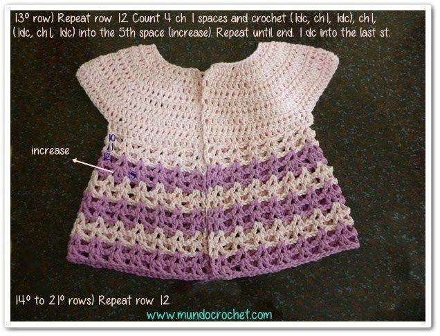 Round yoke baby crochet cardigan free pattern and tutorial ...