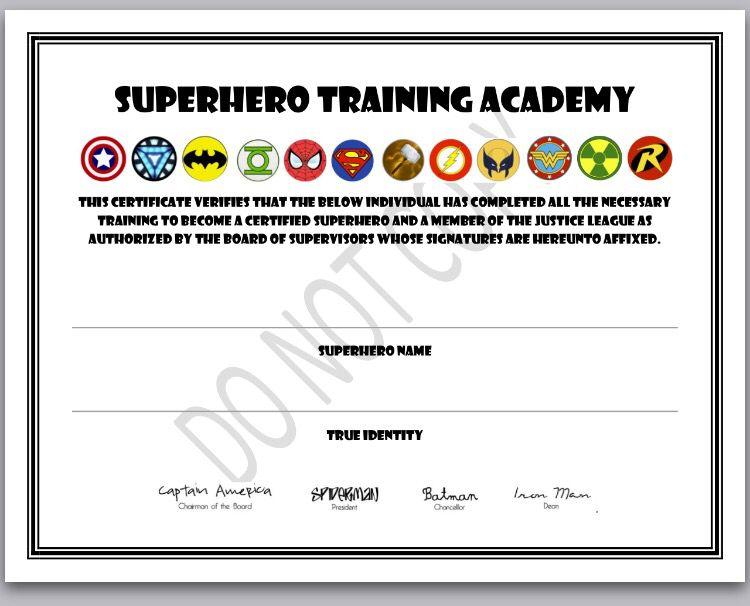 Printable certificate superhero academy traning clipart library superhero training certificate superhero birthday party rh pinterest com batman superhero certificate printable superhero training certificate yadclub Images