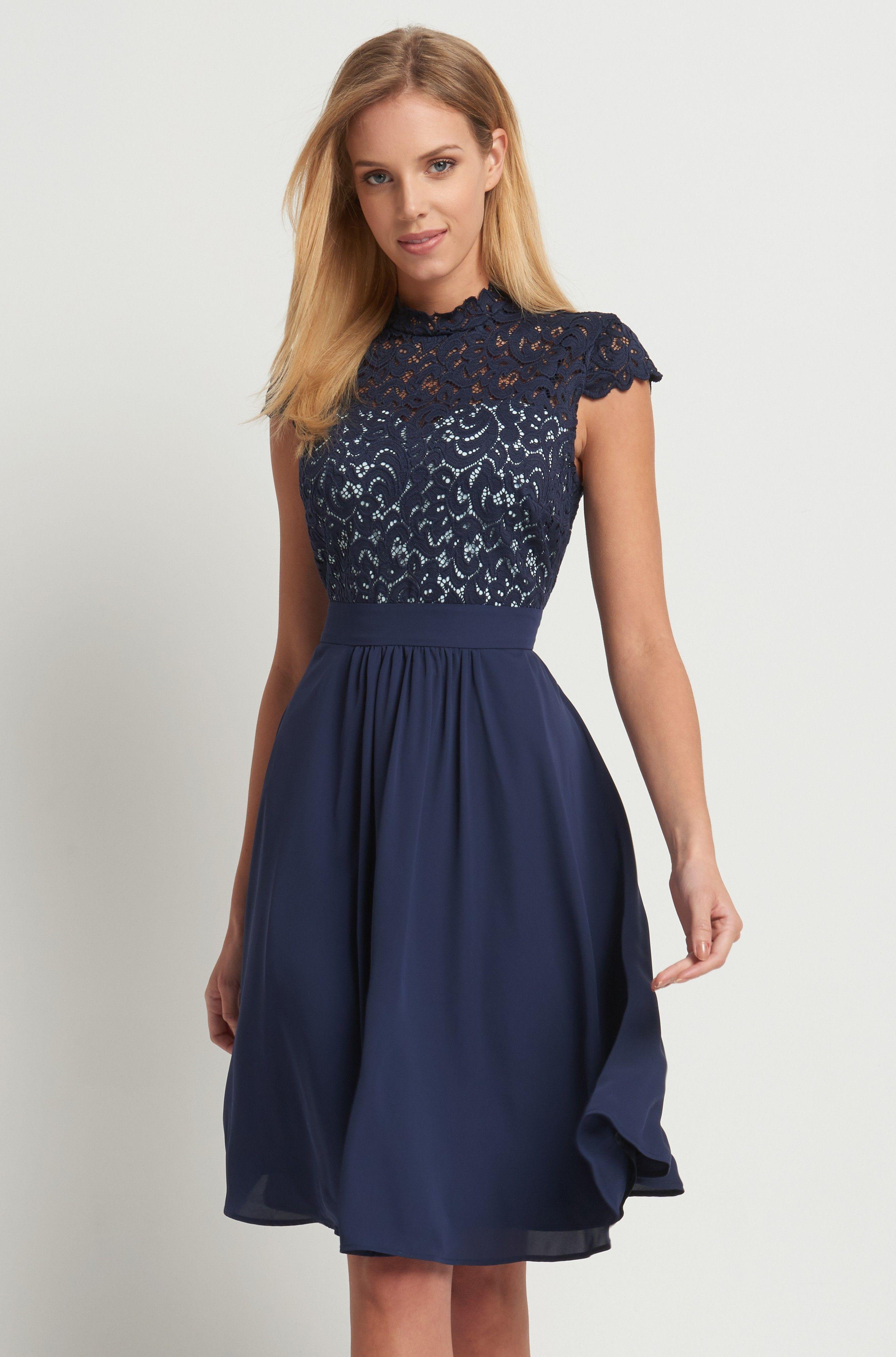 Kombinované šaty s krajkou | ORSAY | oblečení | Pinterest