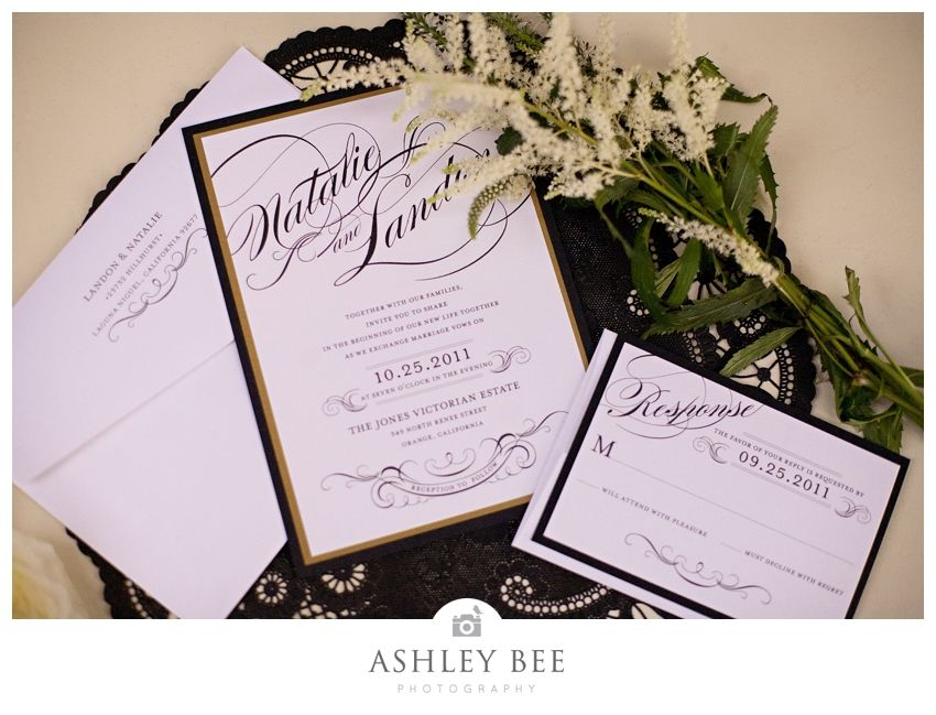 Vintage Hollywood Glam Wedding Love The Invitation And All