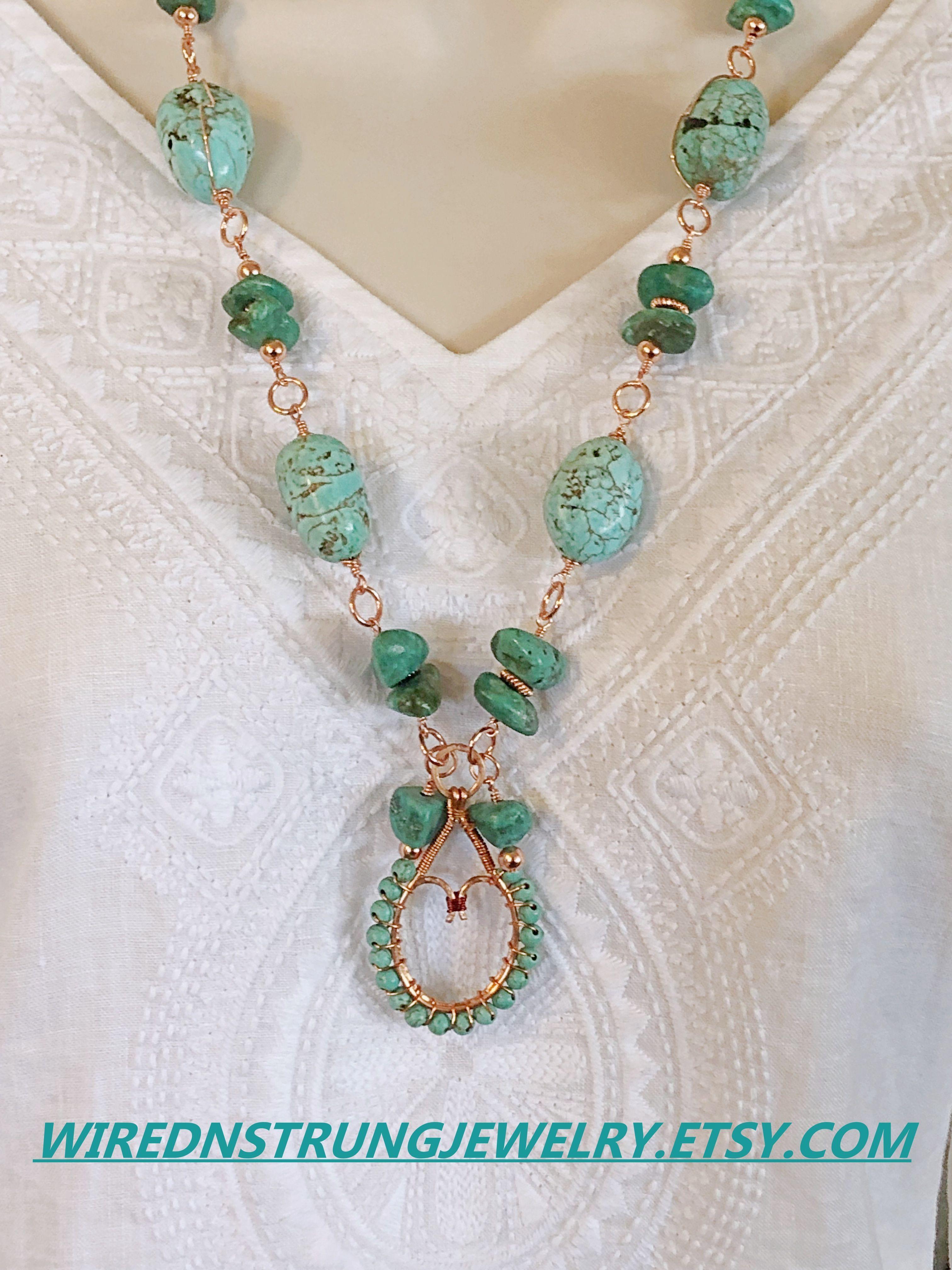 706fbddf432a4 Statement Necklace, Turquoise Necklace, Magnesite Necklace set ...