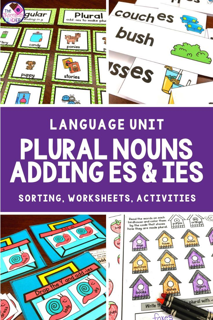 Singular And Plural Nouns With Es Ies Worksheets Activities Plurals Singular And Plural Nouns Singular And Plural Adding s and es worksheets