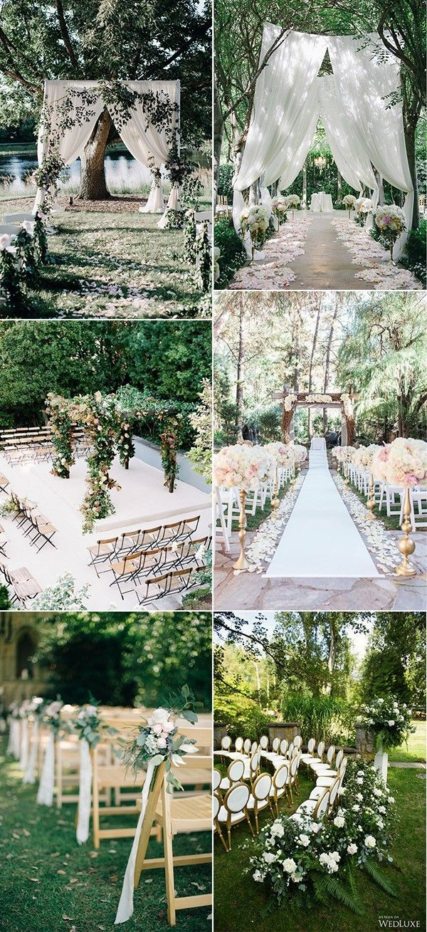 trending garden wedding ceremony decoration ideas | Wedding ...