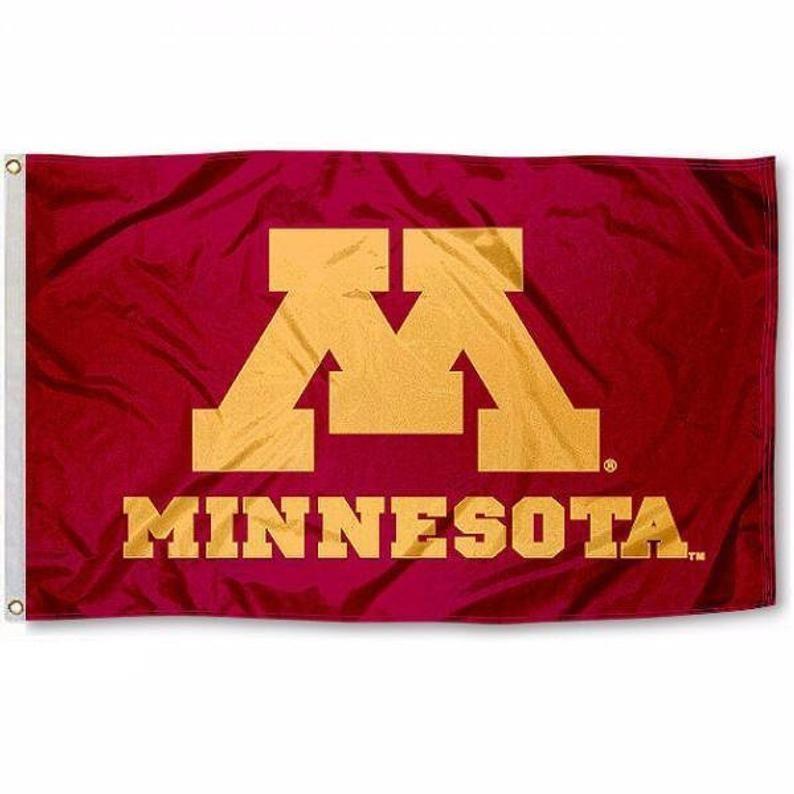 University of Minnesota Golden Gophers Flag Banner Etsy