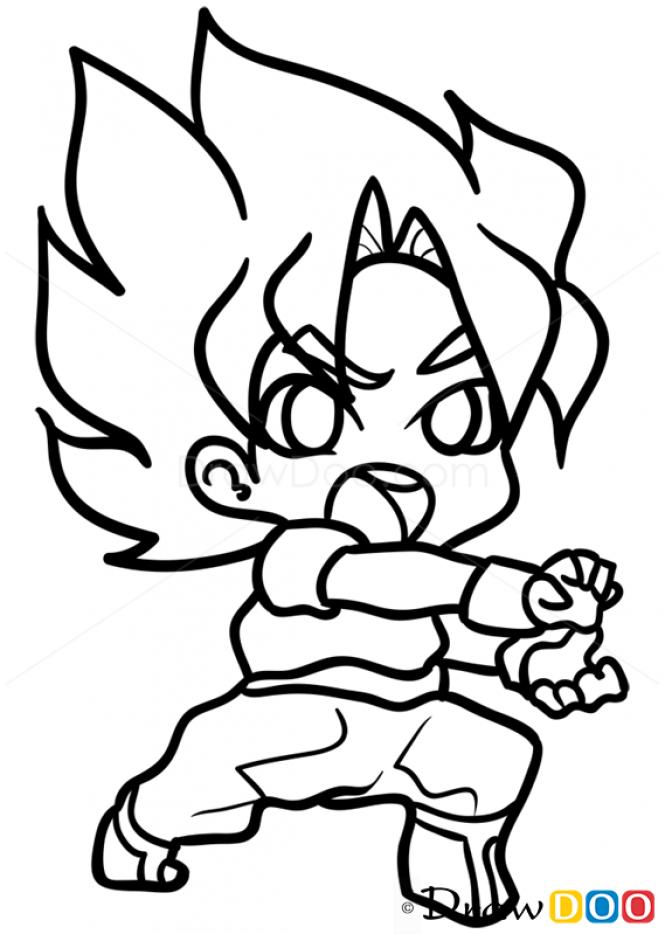 Resultado De Imagen Para Easy Chibi Dragon Ball Super Drawings Dragon Ball Painting Chibi Dragon Drawings