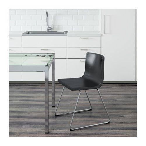 Ikea esszimmerstühle leder  BERNHARD Stuhl, verchromt, Kavat Mjuk dunkelbraun | Pinterest | Möbel