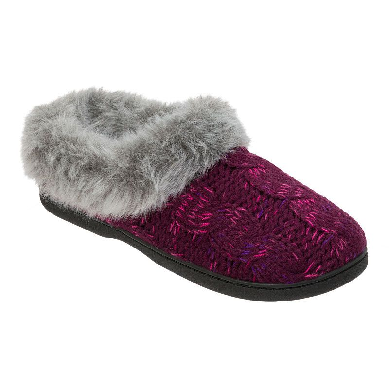 8ddef63475cb3 Dearfoams Cable Knit Clog Slippers Clog Slippers