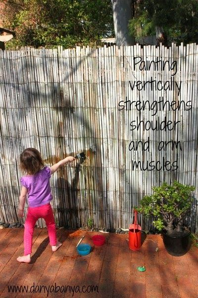 Mess Free Painting Idea Paint With Water Natural Playground Gross Motor Activities Outdoor