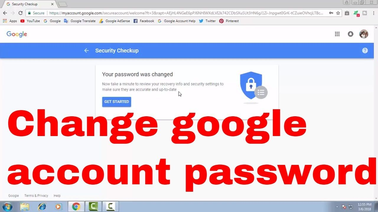 change google account password